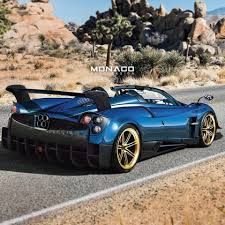 blue pagani pagani huayra bc roadster rendered by monaco auto design