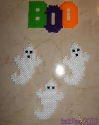 halloween crafts patterns ghostly perler bead mobile for halloween creepy crawly