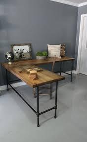 Solid Wood L Shaped Desk Wood L Shaped Desk Interque Co