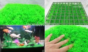 plastic grass synthetic lawn mat aquarium ornament decoration for