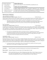Resume Security Guard Gatehouse Security Guard Cover Letter