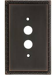 restoration hardware light switch plates egg dart design push button switch plate in solid brass oil