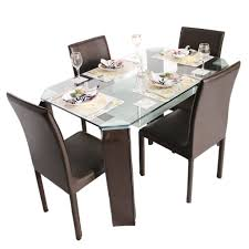 emerald 4 seater metal dining table set woodys furniture