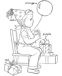 birthday coloring pages for kids birthday coloring pages of