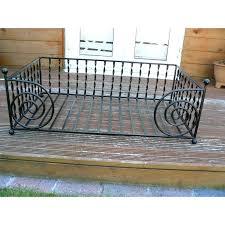 wrought iron pet bed frame the classic metal dog cream 4 u2013 ru site
