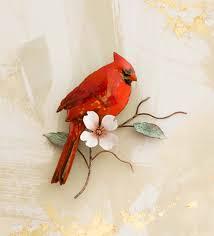 Cardinal Bird Home Decor by Cardinal On Dogwood Branch Wall Art Wind U0026 Weather