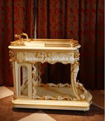 luxury french rococo style gold outlining food service trolly