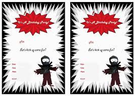 art birthday invitations ninja warriors birthday invitations u2013 birthday printable