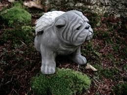 bulldog concrete statue bulldog memorial angel bulldogs with