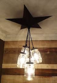 Primitive Light Fixtures Jar Chandelier Barn Country Rustic Primitive Pendant