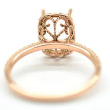 gold engagement ring setting only semi mount gold ring here in gold from renejewelry on etsy