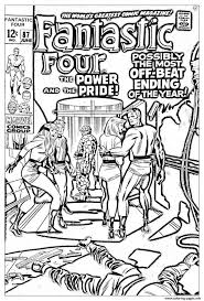 comics fantastic four 1969 coloring pages printable