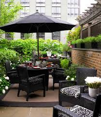 Furniture Enchanting Deck Design With Elegant Black Wicker - Black outdoor furniture
