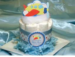 Diaper Cake Centerpieces by Lmk Gifts Personalized Airplane Diaper Cake Centerpiece
