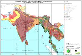 East And Southeast Asia Map by Lon Capa Continental South And South East Asian Ecological Zone Map