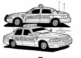 police coloring pages of things coloring pages in police car