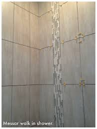 walk in shower 12 x 24 tiles u0026 vertical waterfall glass u0026 stone