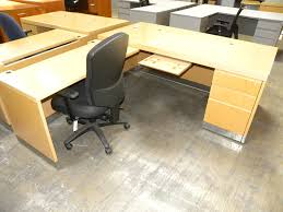 Knoll Reff Reception Desk Used Office Suite From Reff Collection By Knoll Maple Finish