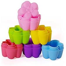 chefaith 24 pcs reusable silicone mini baking cups