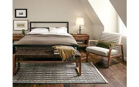 Room And Board Bed Frame Parsons Bed With Callan Chair Bedroom Modern Bedroom Furniture