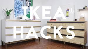 malm dresser hack diy modern dresser ikea hack tarva dresser youtube