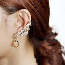 ear cuffs online shopping ear cuff earrings drops gold plated flower ear cuff earrings