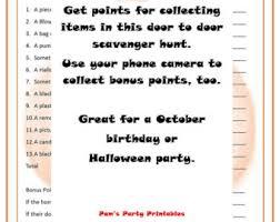 halloween decoration scavenger hunt printable instant