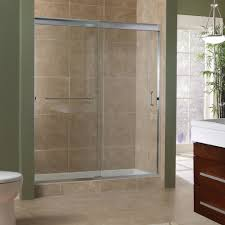 3 Panel Shower Doors Bathroom Marina Collection 3 8 Frameless Sliding Shower Doors