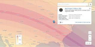Bloomington Ca Map Eclipse 2017 Where It Lands Near Bloomington Limestone Post