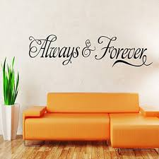 home decor free shipping free shipping always forever quote saying vinyl wall art decal