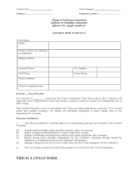 Financial Warranty Letter painting limited warranty certificate form forms and