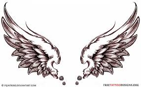 angel wing sketch by elusivellice on clipart library clip art