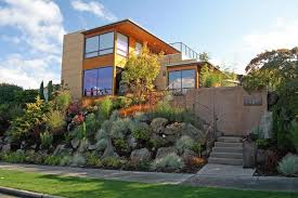 front yard retaining wall landscape contemporary with rocks indoor