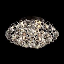 Flush Mounted Lighting Fixtures by Brilliant Crystal Semi Flushmount Light Fixture With Dazzling
