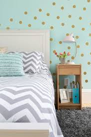u0027s bedroom in aqua gray white and gold color palette with