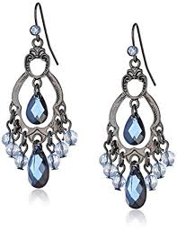 chandelier earrings 1928 jewelry classic blue chandelier earrings drop