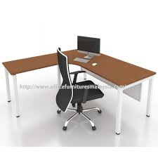 L Shaped Modern Desk by Office Modern L Shape Table Desk Office Furnitures Malaysia
