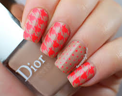 lacquerstyle com neon u0026 houndstooth nail art tutorial