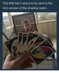 Little Bitch Memes - this little bitch about to be sent to the uno version of the shadow