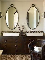 Framed Bathroom Mirrors by Bathroom Bronze Framed Mirror Oval Mirrors For Bathroom Oval