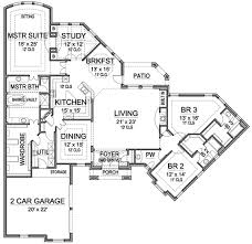 different house plans floor plan with study at back of house different floor plan with