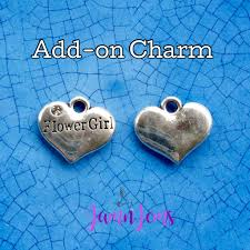 flower girl charms flower girl charm flowergirl gifts accent charms bridal party