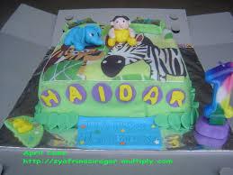 Ikea Birthday Haidar Ikea Jungle Theme 1st Birthday Cake U2013 April Cake