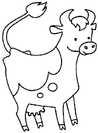 cow coloring pages printable cute baby calf coloring page