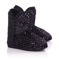 womens boot slippers uk womens black faux fur slipper boots