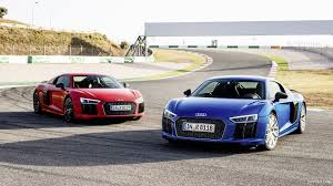 Audi R8 2016 - 2016 audi r8 v10 plus ara blue and dynamite red front hd