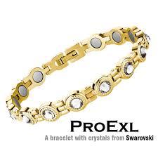 rose gold swarovski crystal bracelet images Swarovski crystal womens magnetic therapy bracelet jpg