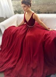 burgundy prom dresses maroon prom dress v neck prom dress