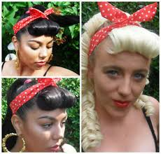 headband roll 50s rockabilly vintage victory roll fringe clip in