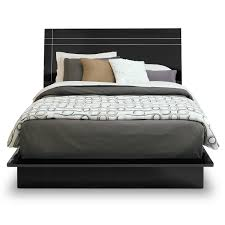 Factory Outlet Bedroom Furniture Dimora Queen Panel Bed Black American Signature Furniture